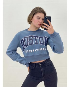 Mavi Crop Boston Sweatshirt