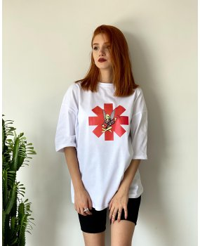 Beyaz The Red Hot Chili Peppers Tshirt
