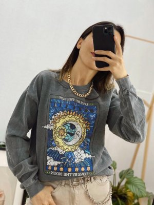 Yıkama Love By Moon Sweatshirt